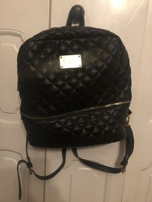 Bebe black quilt leather backpack with gold fixtures for Sale in Brockton, MA