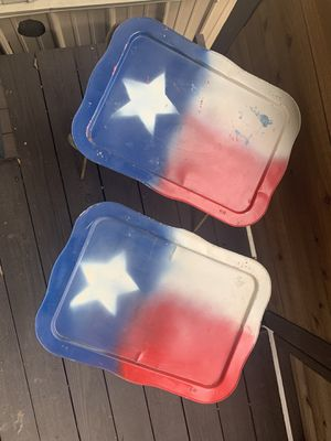 Vintage TV Tray Stands - Pair for Sale in Wylie, TX