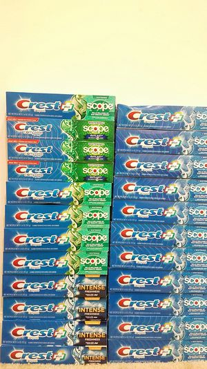 New Crest Complete with Scope whitening toothpaste 5.4 to 5.8oz - 5 for $10 for Sale in Rockville, MD