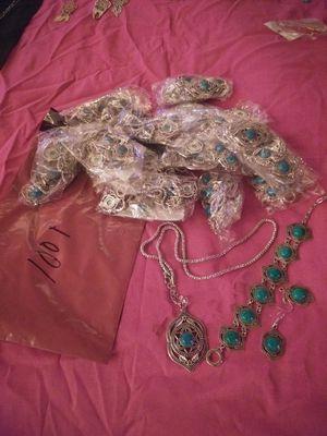 Round Stone Malachite Blue Jewelry Set for Sale in Las Vegas, NV