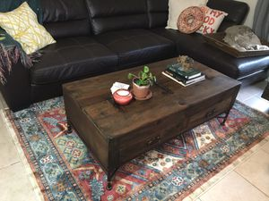 Rod Iron Wooden Chest / Coffee Table - Great Condition! for Sale in Austin, TX