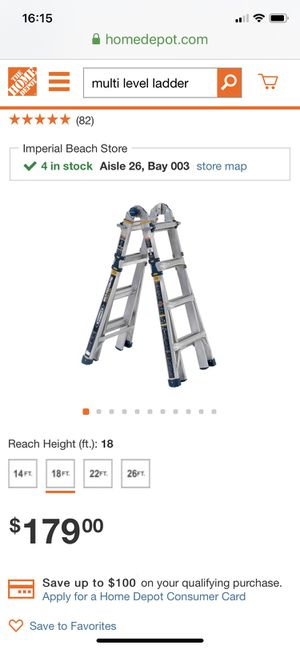 Werner multi level ladder for Sale in San Diego, CA