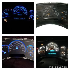 chevy gmc instrument cluster rebuilt and led for Sale in Arlington, TX