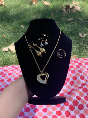 Gold heart necklace set for Sale in Anaheim, CA
