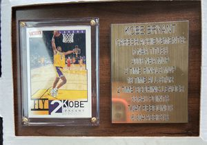 Kobe Bryant card and plaque for Sale in Lakeland, FL