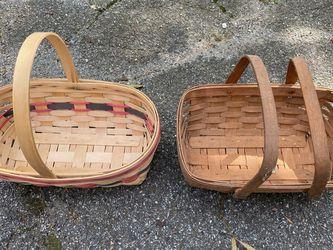 Two Medium Longaberger Baskets for Sale in Alexandria,  VA