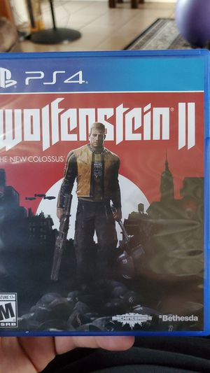 Wolfenstein 2 The New Colossus PS4 Playstation Game for Sale in ROWLAND HGHTS, CA