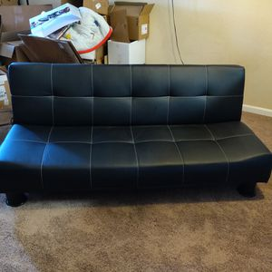 Leather Futon, for bedroom, kids room, game room, or guest room for Sale in Fairfield, CA