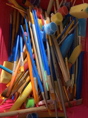 Painbrushes (some are completely new!) 12 paintbrushes for $1 for Sale in Saratoga, CA