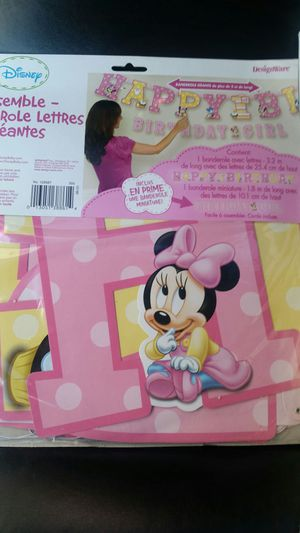 Minnie mouse 1st birthday banner for Sale in University Park, MD