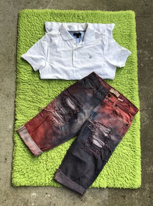 Levi Chorts talla 30 camisa Banana Republic/M for Sale in Houston, TX