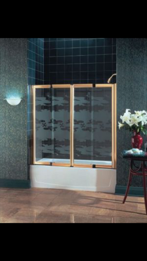 STERLING SHOWER/TUB DOOR SYSTEM TroRACKLESS FREESTYLE by STERLING for Sale in Cleveland, OH