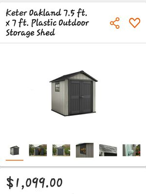 Keter oakland 7.5x7 shed for Sale in Sun City, AZ
