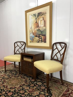 Pair of Mid Century Mahogany Chairs for Sale in Boynton Beach, FL