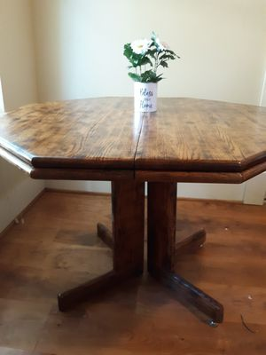 Hand burned oak kitchen table. for Sale in Pensacola, OK