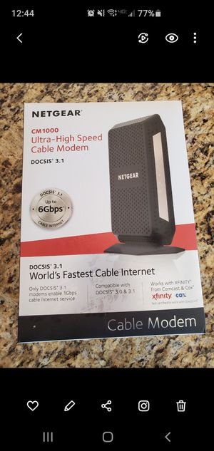Cable Modem Netgear CM1000 like new! for Sale in Scottsdale, AZ
