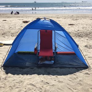 New in box $15 each 7x3 feet beach tent sun shade 3 person use blue color for Sale in Whittier, CA