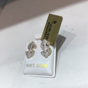 10k Gold Diamond Money Cash Earring MANY OPTIONS AVAILABLE IN STORE for Sale in Los Angeles, CA