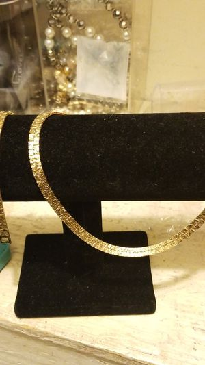GOLD PLATED NUGGET CHAIN AND MATCHING BRACELET for Sale in Fort Belvoir, VA