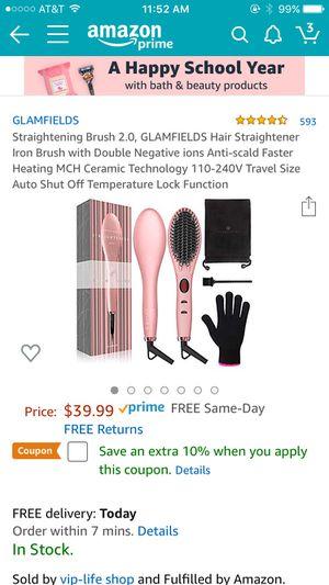 Hair straightening brush (Brand new) for Sale in Renton, WA