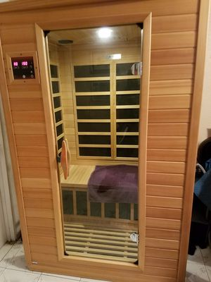 Home Sauna. with carbon heaters. In excellent condition. Used in our home Excellent health benefits. Easy assembly. for Sale in Pomona, CA
