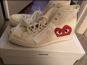CDG PLAY CONVERSE SIZE 10 BRAND NEW for Sale in Houston, TX