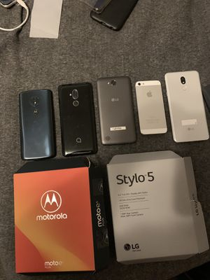 cheaper phones very good condition LG Stylo 5 Motorola 5 alcatel 7lG plus Iphone 5 all phones work a great for Sale in Chicago, IL