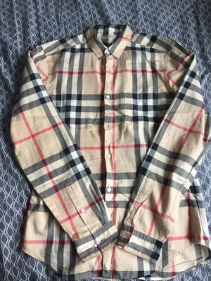 Mens Burberry Original Long Sleeve Shirt for Sale in San Diego, CA