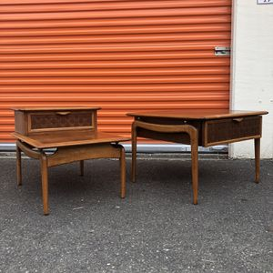 Two Tier Table Available Mid Century Modern Dresser Cabinet Credenza Stand Table Chair Sofa Rug Vintage for Sale in Shoreline, WA