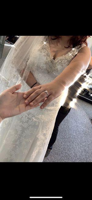Wedding dress-Casablanca unaltered. Never used for Sale in Orlando, FL
