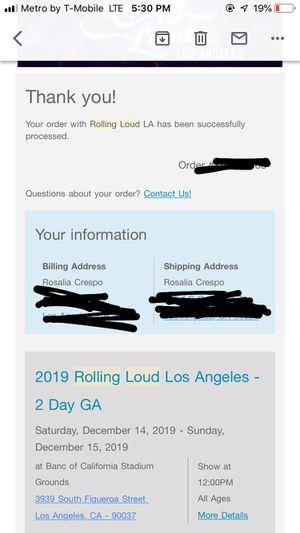 Rolling Loud LA for Sale in Los Angeles, CA