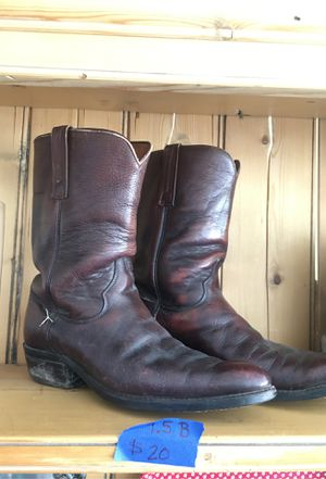 Justin cowboy boots 9.5B for Sale in Crawford, CO