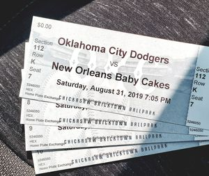 HOME PLATE TICKETS for Sale in Mustang, OK