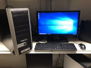 dekstop comes with 22 inch monitor keyboard and mouse for Sale in Medford, MA