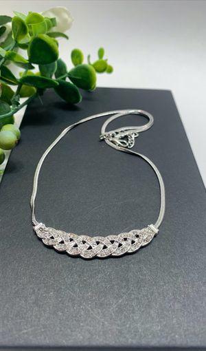 Romantic Choker Chain Necklace, Silver Color for Sale in Irvine, CA