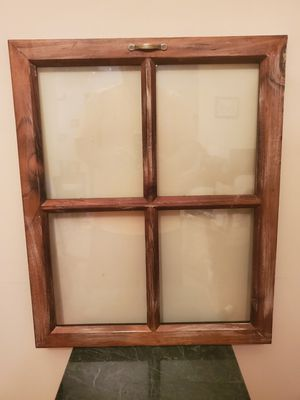 4 Pane Rustic Wood Window Picture Frame for Sale in Duluth, GA
