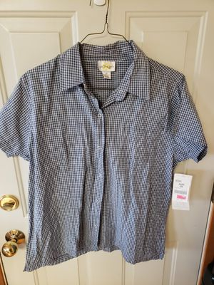 Womens 3X plaid button up shirt for Sale in Tacoma, WA