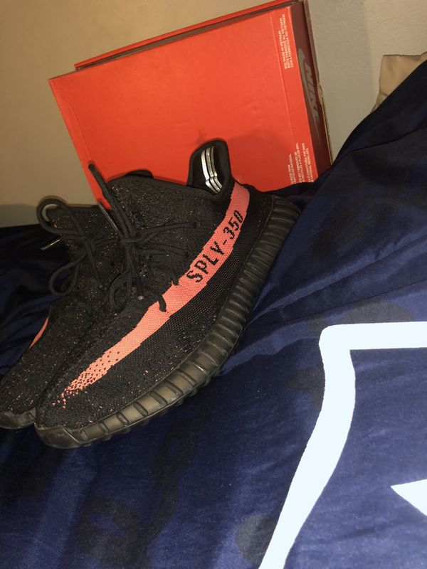 Size 11.5 yeezy 350 red stripes