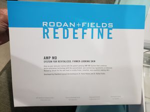 Rodan Fields Redefine AMP MD System, AAAPS01, exfoliating derma-roller and serum for Sale in Hoschton, GA