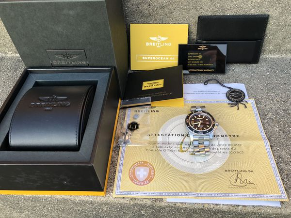Breitling SuperOcean 44mm automatic watch omega oris tag Rolex