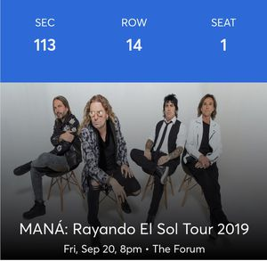 Mana concert tickets for Sale in Inglewood, CA