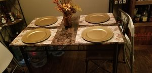 Dining table no chairs marble top for Sale in Linda, CA