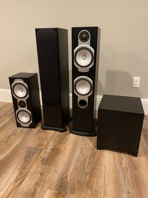 Monitor Audio speakers and Martin Logan Subwoofer for Sale in Woodinville, WA
