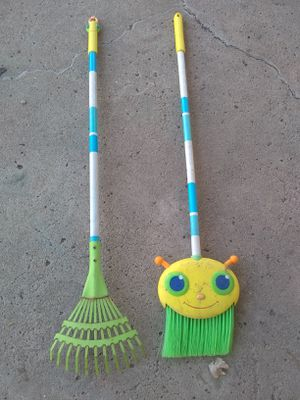 Toddler Broom and Rake Both for $2 for Sale in El Cajon, CA