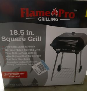 Flame Pro 18.5 in Square Charcoal Grill for Sale in Benton, KS