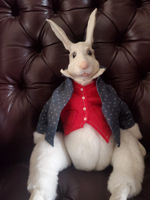 Authentic vintage antique rabbit wood doll from Alice in wonderland for Sale in Brea, CA