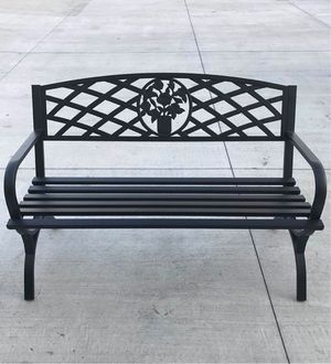 New in box $70 each 500 lbs weight capacity 50x24x34 inches tall outdoor patio garden steel bench chair for Sale in Los Angeles, CA