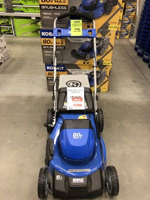 Kobalt 80-volt Brushless Lithium Ion 21-in Self-propelled Cordless Electric Lawn Mower ( for Sale in Atlanta, GA