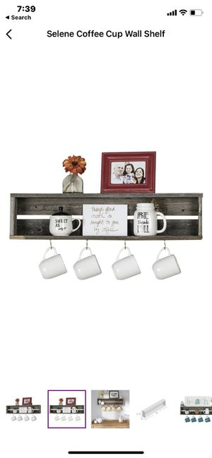 Coffee cup wall shelf for Sale in Bellflower, CA