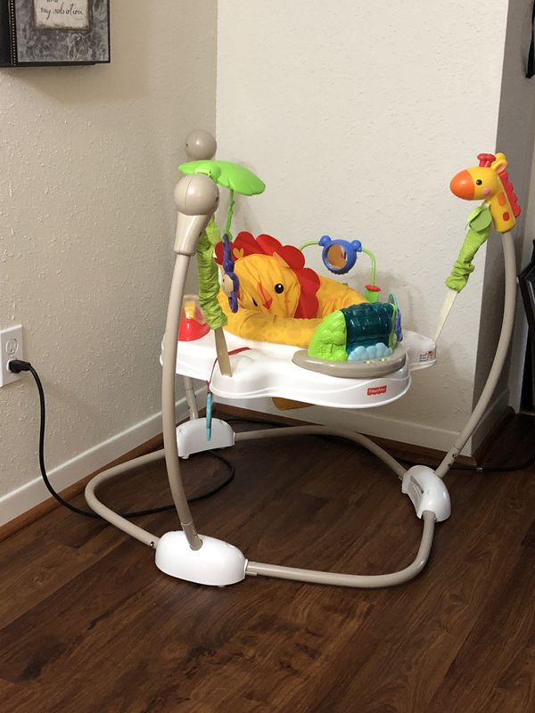 Baby crib (without mattress) original price 250 +Jump bouncer like new/ Both $160